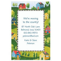 Suburban Wonderland Custom Housewarming Invitation