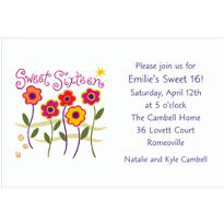 Sweet Sixteen Custom Invitation