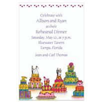 Wacky Wedding Cakes Custom Wedding Invitation