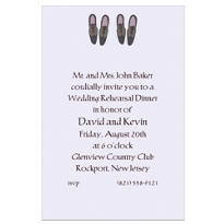 Groom and Groom Shoes Custom Wedding Invitation