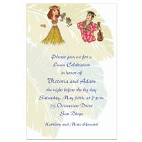 Luau Couple Custom Wedding Invitation