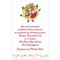Party Reindeer Custom Invitation