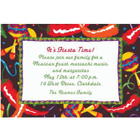 Chilis and Maracas Custom Invitation