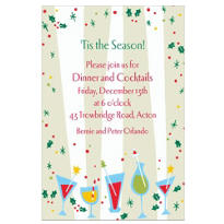 Christmas Cocktail Party Custom Invitation