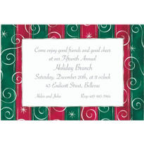 Magical Stripes and Swirls Custom Christmas Invitation