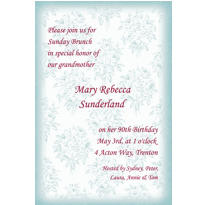 Toile Applique Custom Invitation