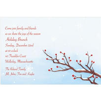 Serene Winter Branch Custom Invitation