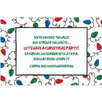 Christmas Light Tangle Custom Invitation