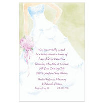 Soft Fashion Gown Custom Invitation