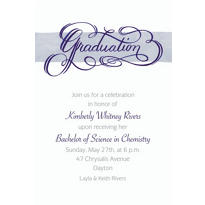 Calligraphic Graduation Custom Graduation Invitation