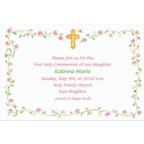Sweet Cross & Buds Custom Invitation