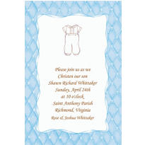 Cute Baptism Suit Custom Invitation