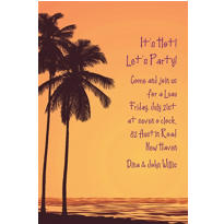 Custom Postcard Sunset Luau Invitations