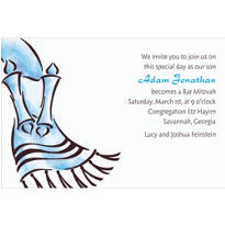 Tallis with Torah Masculine Custom Invitation