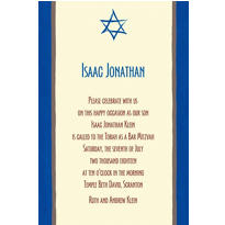 Mod Star of David Custom Invitation