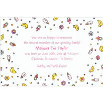 Baby Girl Things Custom Birth Announcements