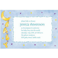Baby Moon & Stars Custom Baby Shower Invitation
