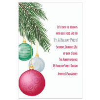 Dangling Ornaments Custom Invitation