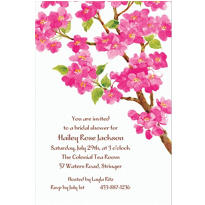 Sweet Cherry Blossoms Custom Invitation