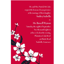 Bold Cherry Blossoms Custom Invitation