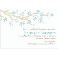 Budding Tree Soft Custom Invitation