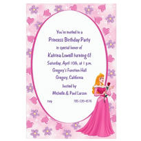 Aurora on Hearts & Flowers Custom Invitation