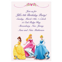 Three Posing Princesses Custom Invitation