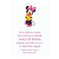 Minnie Mouse Custom Invitation
