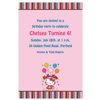 Hello Kitty Balloon Custom Invitation