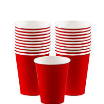 Red Paper Cups 20ct