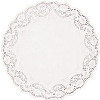 White Round Doilies 4ct