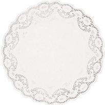 White Round Doilies 4ct