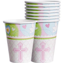 Pink Sweet Religious Cups 9oz 8ct