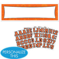 Orange Personalized Banner
