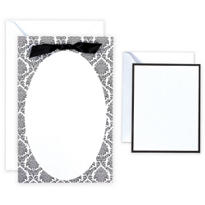 Black & White Oval Printable Wedding Invitations Kit 50ct