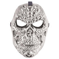 Platinum Metallic Skull Mask