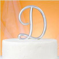 Monogram D Cake Topper