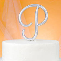 Monogram P Wedding Cake Topper
