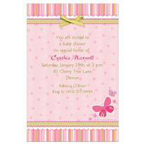 Carter Girl Custom Baby Shower Invitation