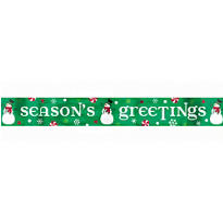 Seasons Greetings Foil Banner