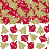 Christmas Holiday Paper Confetti 1 1/2oz