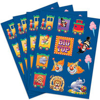 Big Top Birthday Stickers 4 Sheets