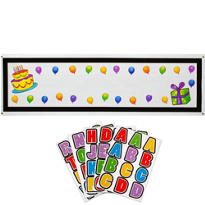 Birthday Personalized Banner - Birthday Cake