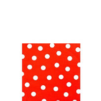 Red Dot Beverage Napkins 16ct
