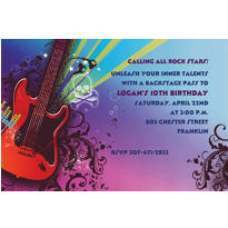 Rock Star Custom Invitation