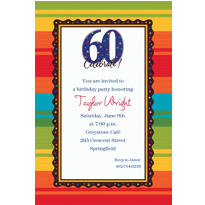 A Year to Celebrate 60th Birthday Custom Invitation