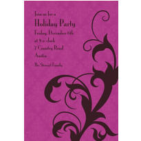 Holiday Filigree Purple Custom Invitation