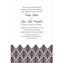 Unbridled Filigree Black Custom Invitation
