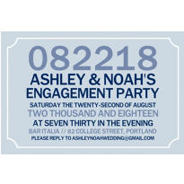 Custom Formal Corners Gray Invitations