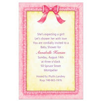 Pink Baby Frills Custom Baby Shower Invitation